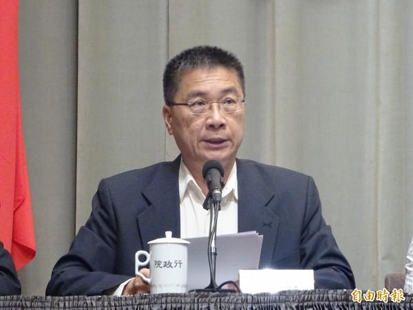 中國兩官媒接力批賴揆,行政院發言人徐國勇1天內2回嗆:「不接受恫嚇言論」。(資料照)