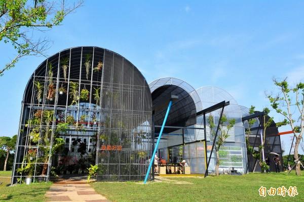 桃園農博「鼓勵好室」打造未來植物住宅。(記者李容萍攝)
