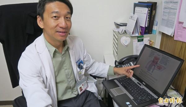 廖曜磐醫師提醒,服用止痛藥不能過量。(記者陳冠備攝)