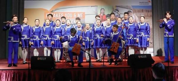 藍天合唱團。(台灣世界展望會提供)