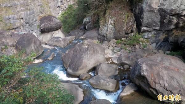 尖石鄉青蛙石經由天空步道打響名聲,成為全國知名景點。(記者廖雪茹攝)