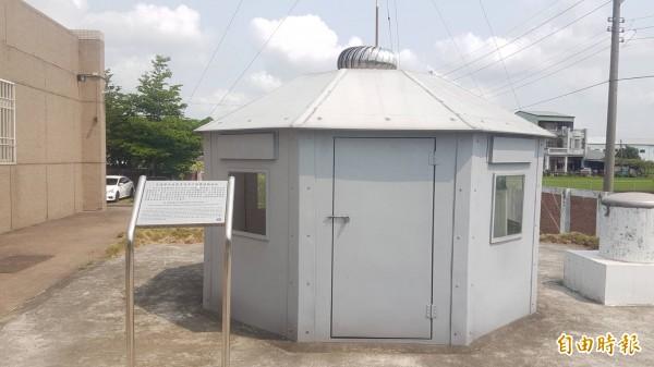 嘉義氣象站設置台灣新一代地震觀測系統「井下地震儀觀測站」。(記者丁偉杰攝)