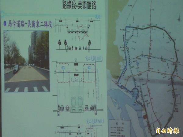 高雄輕軌第二階段經過美術館路,引起地方強烈質疑(記者王榮祥攝)