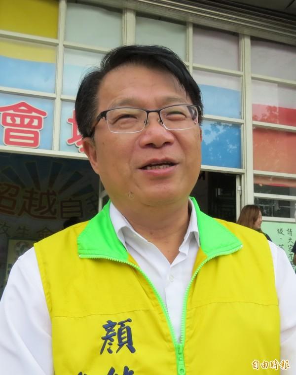 顏純左表示,永康市議員選區,民進黨中央決議必要時再徵召1席。(資料照)