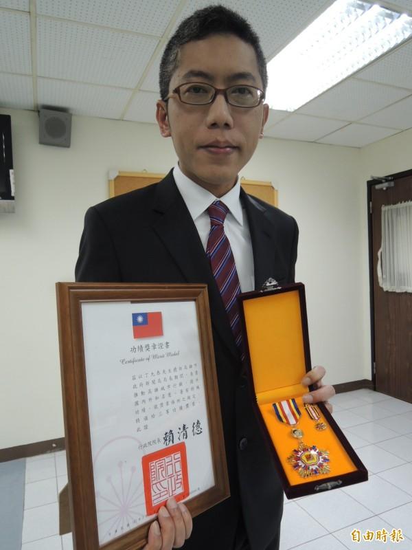 丁允恭表示回家感覺很好,也很感謝市長陳菊栽培與團隊長期支持(記者王榮祥攝)