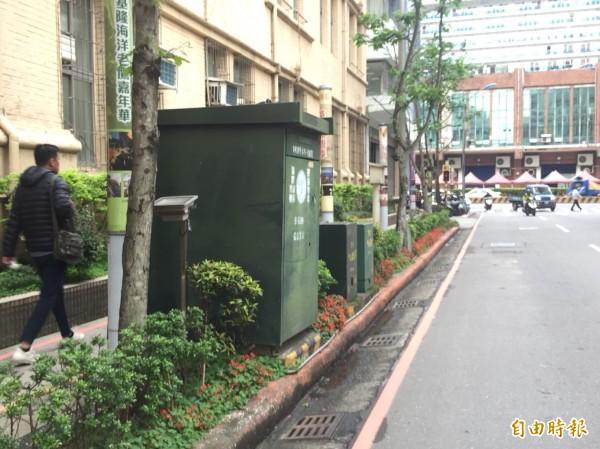 基隆市景觀自治條例,連變電箱也要管。(記者盧賢秀攝)