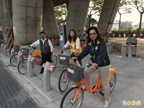 iBike於泰安火車站新站營運。(記者張軒哲攝)