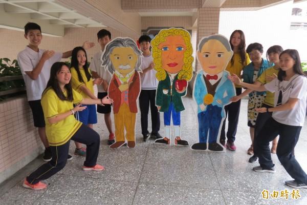 台中市中小學科學園遊會,請出「重量級」科學人擔任代言人。(記者蘇孟娟攝)