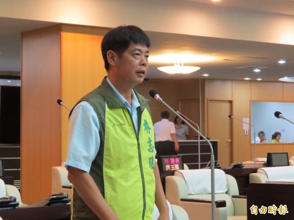 台南市民進黨議員林志聰說,希望黨中央推出最強的賴院長代表民進黨參選台北市。(資料照,記者蔡文居攝)