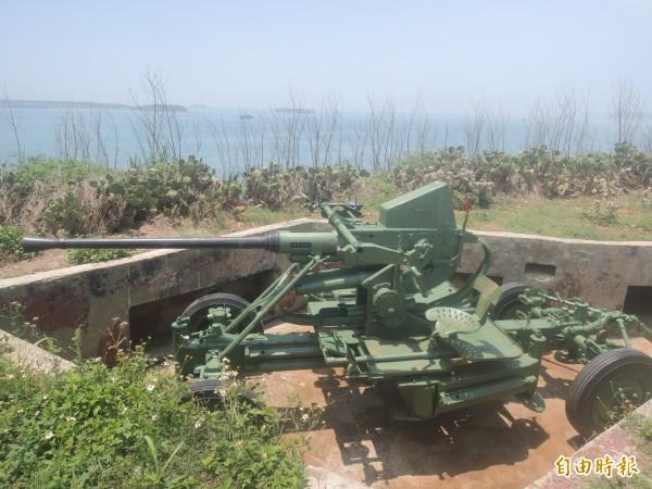 金龜頭文化園區,現在放置國軍武器。(記者劉禹慶攝)