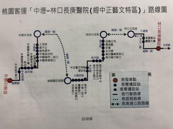 711市區公車路線圖。(記者陳昀攝)
