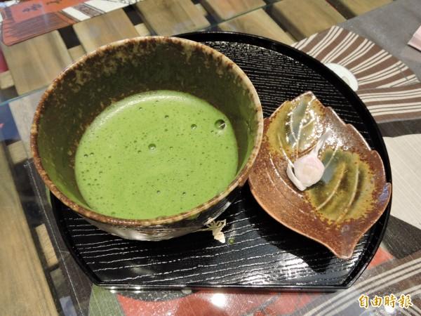 和心茶寮的正統抹茶。(記者張菁雅攝)