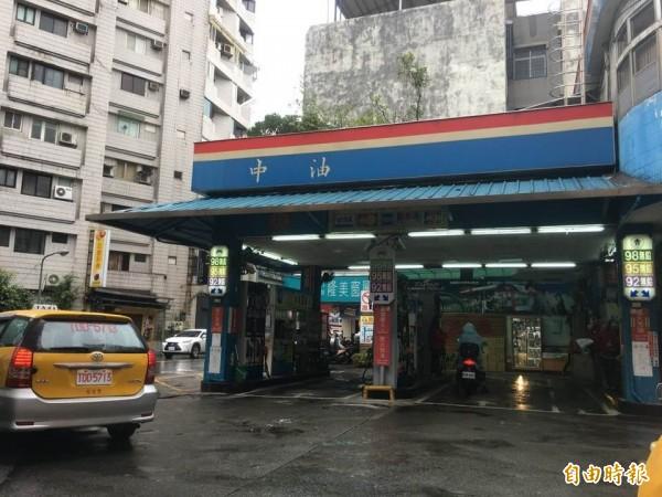 中油加油站(記者黃佩君攝)