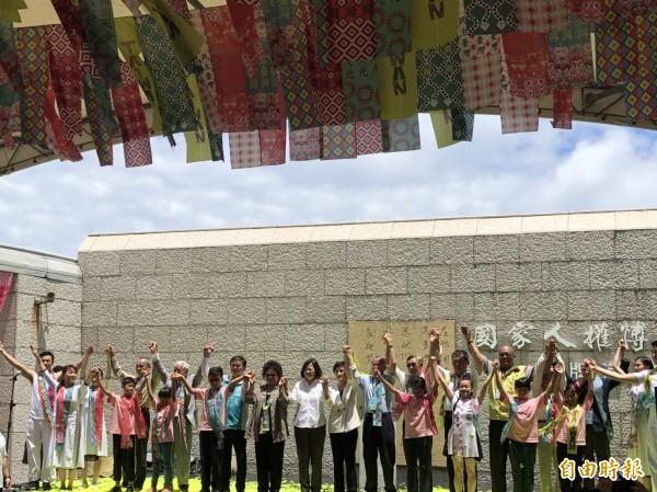 總統出席人權館綠島紀念園區揭牌儀式(記者蘇永耀攝)