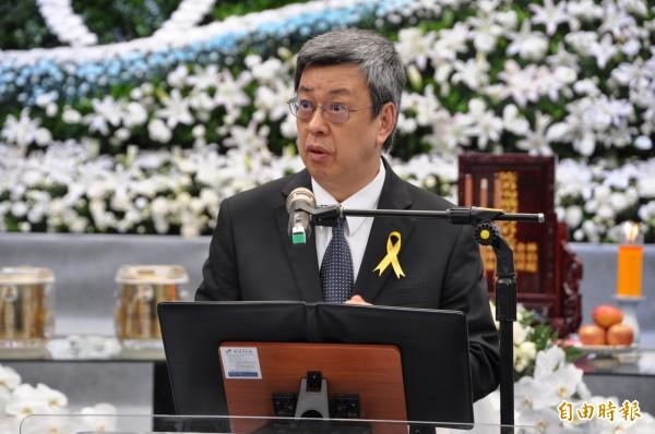 副總統陳建仁說,政府要做為消防弟兄的後盾,也要讓消防隊員的家人們更安心。(記者周敏鴻攝)