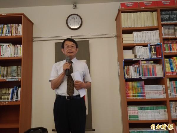 法務部國際及兩岸法律司司長蔡秋明指出,我國詐欺案刑度已大幅增加。(記者吳政峰攝)