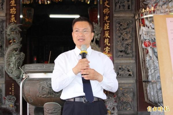 彰化縣長魏明谷強調工廠要接受輔導最大前提不能污染環境。(記者張聰秋攝)