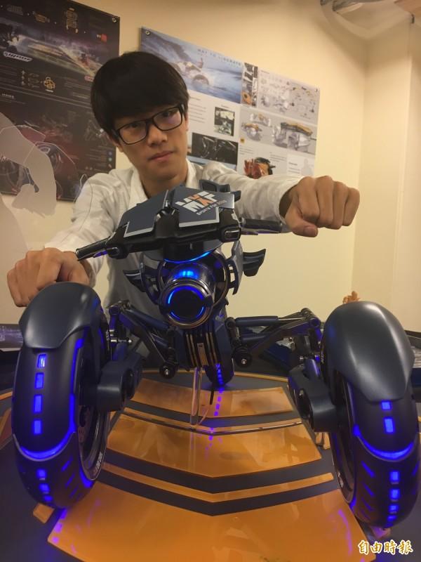 大葉學生設計夢幻機車,獲獎無數。(記者顏宏駿攝)