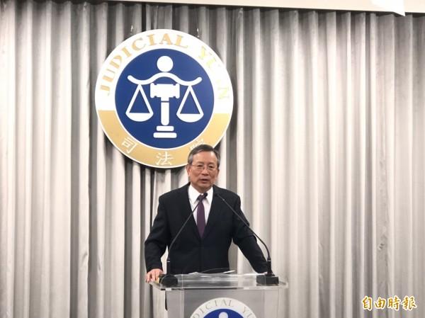 司法院祕書長呂太郎指出,民事訴訟法將處罰濫訴行為。(記者吳政峰攝)