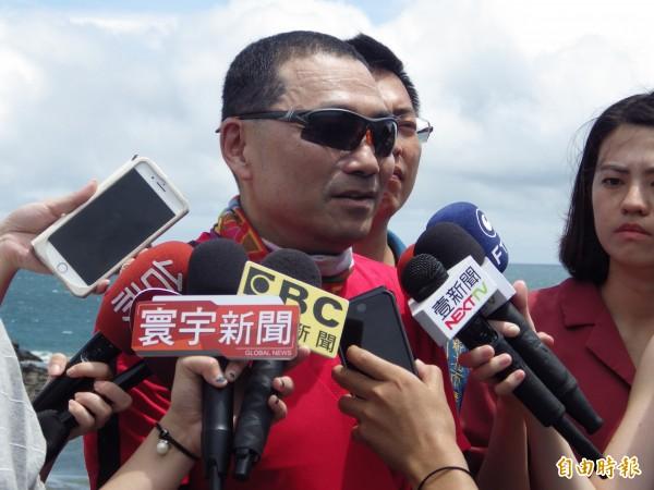 國民黨新北市長參選人侯友宜。(記者陳心瑜攝)