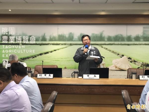 桃園市長鄭文燦宣布,今年市府、消安基金共有200萬元經費,讓消防員免費健檢。(記者陳昀攝)