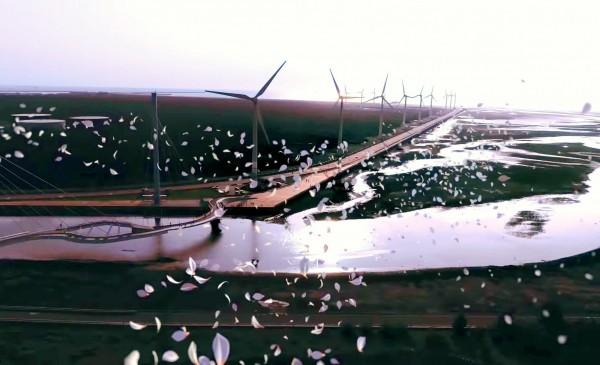 花博形象影片介紹高美濕地。(台中市政府提供)