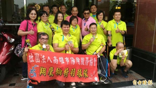 翔鷹輪椅羽球隊獲全國身心障礙國民運動會7面獎牌。(記者黃旭磊攝)