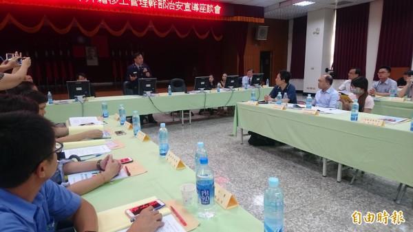 台南市警察局上午首度舉辦外籍移工管理幹部治安座談會。(記者楊金城攝)