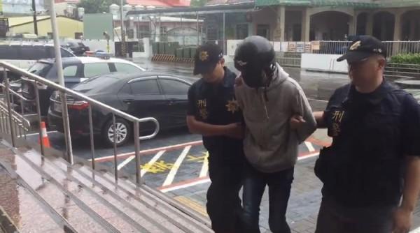 江嫌迅速被警方逮捕。(記者洪臣宏翻攝)