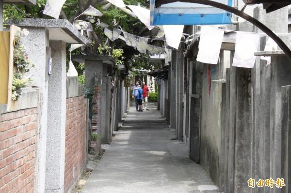 清水眷村園區正展出清水眷村文物展。(記者張軒哲攝)