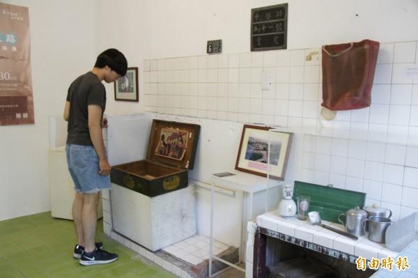 清水眷村文物展,展出早期眷村文物。(記者張軒哲攝)