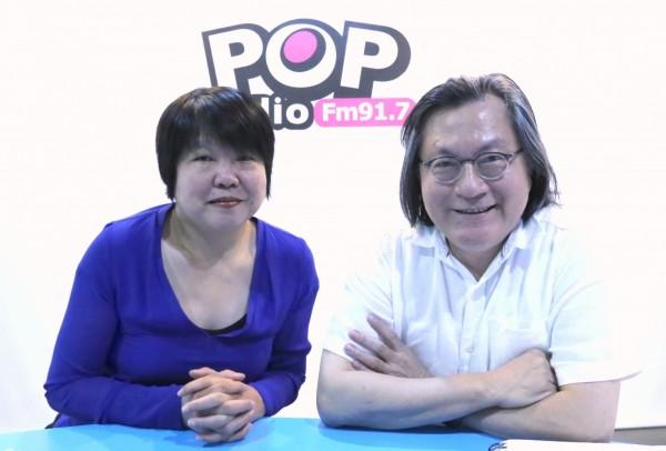 台北市都發局長林洲民接受黃光芹專訪。(POPradio提供)