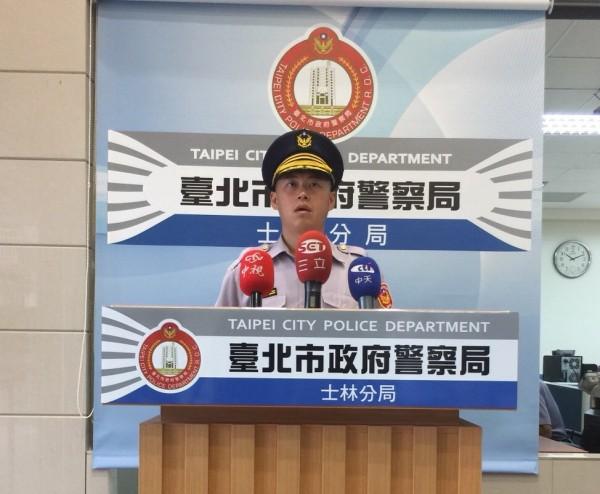 台北市士林警分局後港派出所長莊清雄說明。(警方提供)