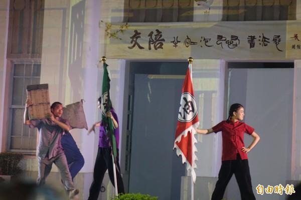 鹿港光雕劇場,劇場與光雕結合。(記者劉曉欣攝)