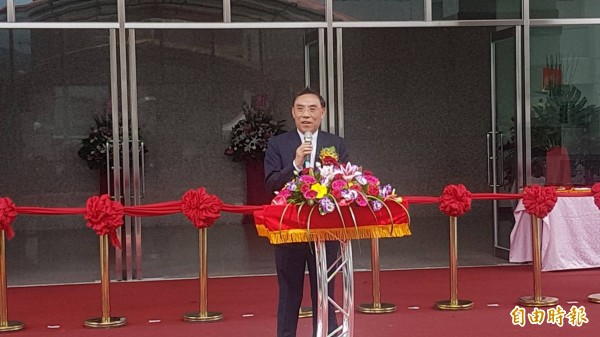 調查局長蔡清祥說,年底查賄嘉市調查站已佈署完畢。(記者丁偉杰攝)