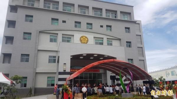 調查局嘉義市調查站新建辦公大樓落成啟用。(記者丁偉杰攝)