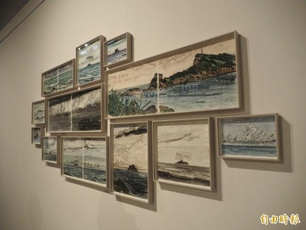 林銓居駐村期間走遍海岸山脈,並以創作記錄。(記者王秀亭攝)