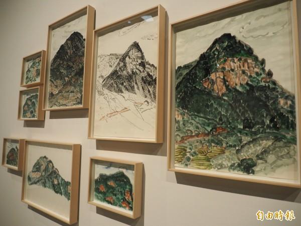 臺東縱谷的美景也是林銓居駐村期間的創作來源。(記者王秀亭攝)