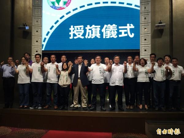 民進黨台東縣參選人齊聚,氣勢如虹。(記者張存薇攝)