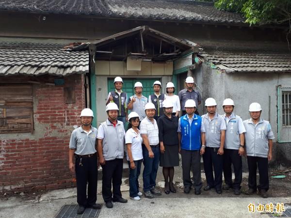 新竹市市定古蹟「新竹少年刑務所演武場」舉行修繕動工儀式,預計明年9月完工,將重現過去「練武」的場景,也會委外讓古蹟活化。(記者洪美秀攝)