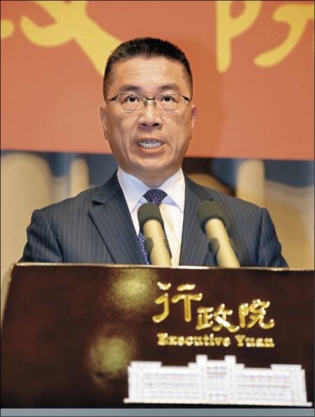內政部長將由政務委員兼發言人徐國勇接掌。(資料照)