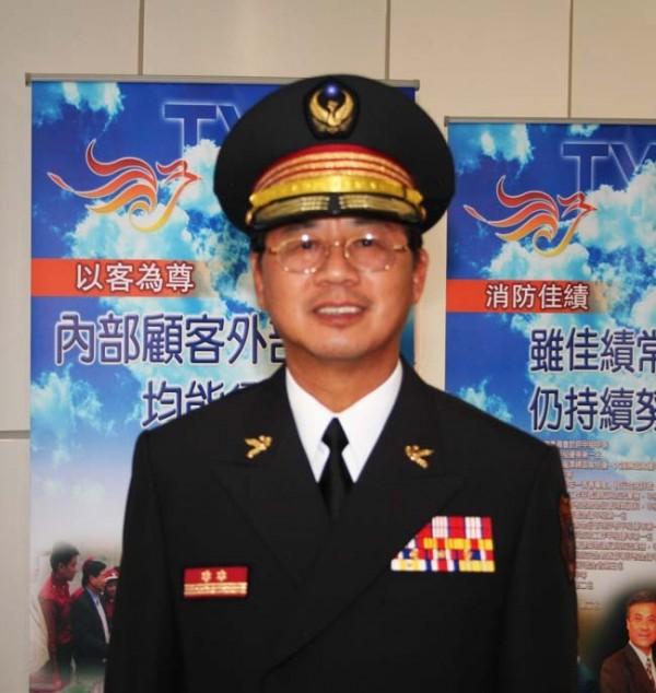 謝呂泉為桃園第一任消防局長,將回鍋接任。(桃市消防局提供)