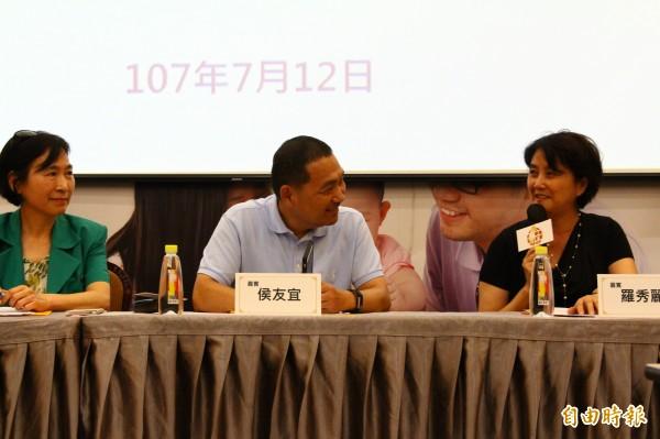 侯友宜出席討論托育政策,他承諾未來當選將讓公托場所提高普及、品質。(記者邱書昱攝)