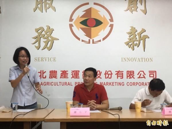 台北市議會財建委員會今視察台北第一果菜批發市場(記者蕭婷方攝)