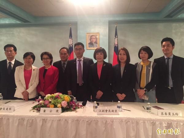 台美国会联谊会成员访问华府,关切台湾钢铝被美课税。(记者曹郁芬摄)