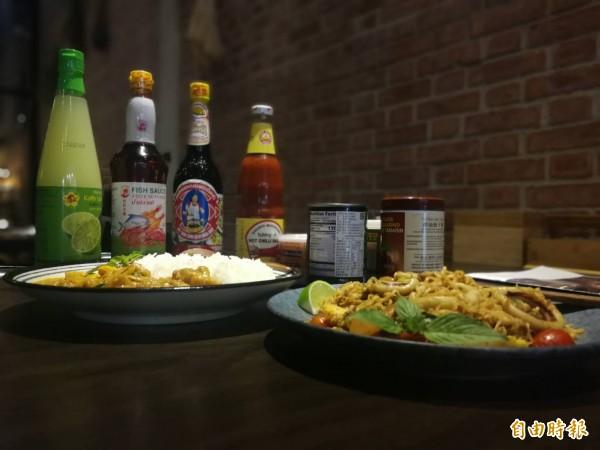 「沸騰」店內的所有調味醬料皆是泰國空運來台,強調原汁原味。(記者許倬勛攝)