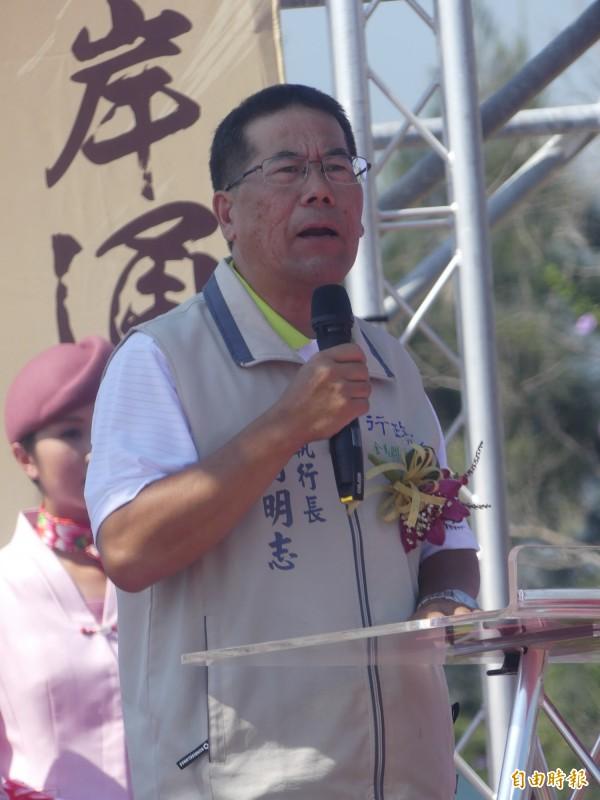 行政院金馬聯合服務中心執行長翁明志強調,中央從未反對自中國通水。(記者吳正庭攝)