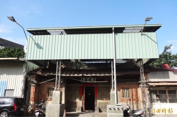 新竹市國定古蹟「進士第」獲5388萬元進行修復,預計9月底動工。(記者洪美秀攝)