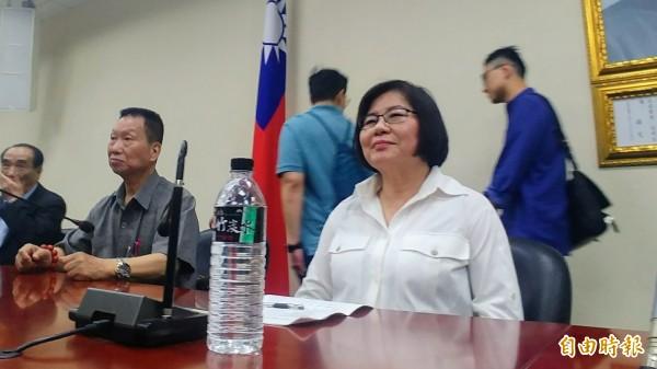 國民黨台北市黨部主委黃呂錦茹。(記者簡惠茹攝)