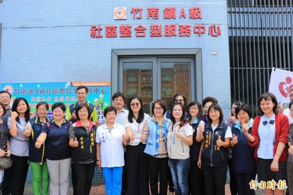 為恭醫院於竹南成立A級社區整合型服務中心。(記者鄭名翔攝)